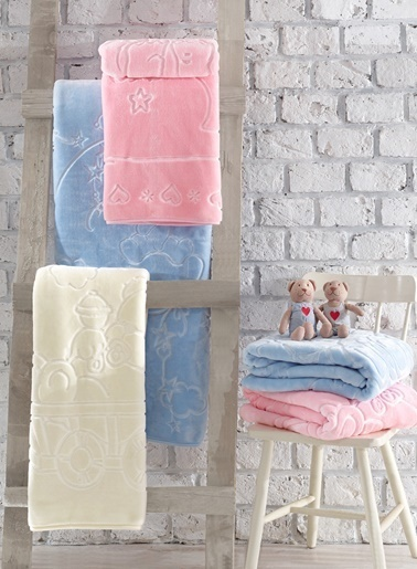 Cotton Box Emboss Bebek Battaniyesi Krem (100x120) Renkli